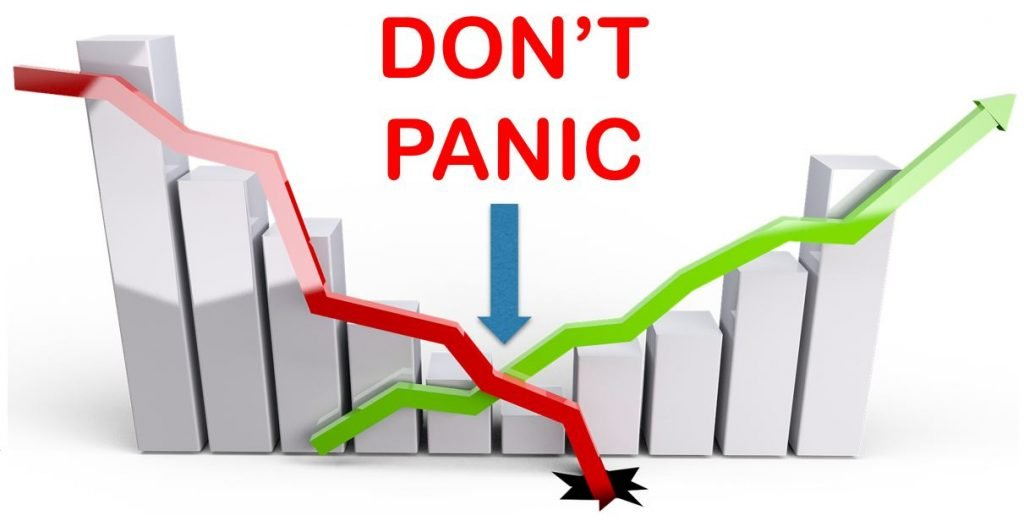 It's important not to panic when the stock market drops.
