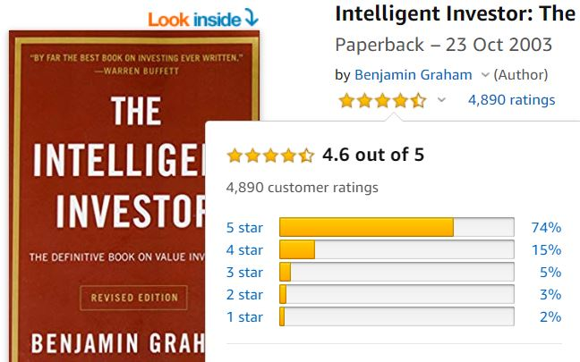 Customer reviews of the intelligent investor are very good.