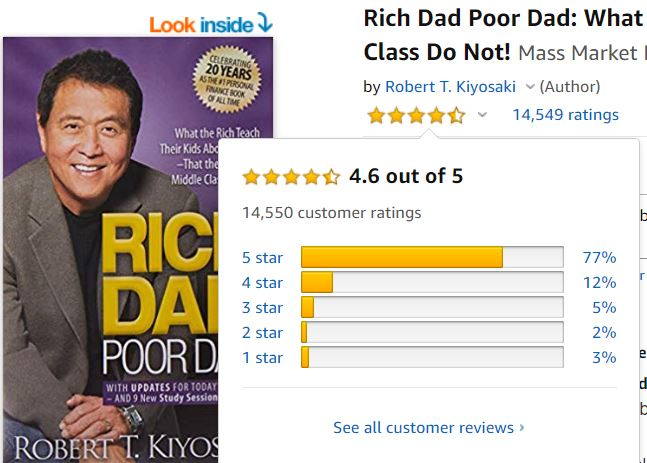 Rich Dad Poor Dad reviews on Amazon are very good.