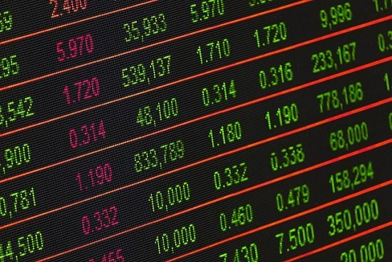 It shows the quotations of a Stock Market Exchange
